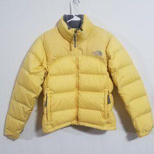 North Face Womens XS Yellow 96 Nuptse Jacket Coat